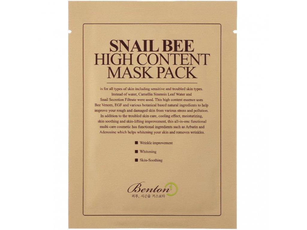 Benton Snail Bee Hight Content Mask