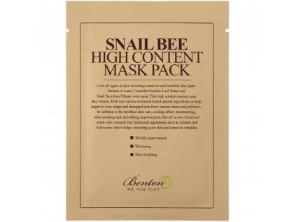 Benton Snail Bee Hight Content Mask