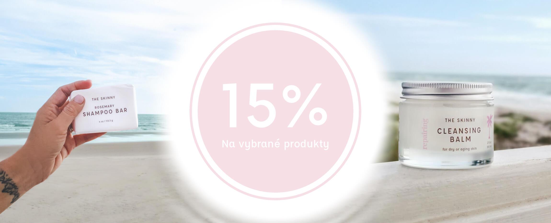 15% sleva na vybrané produkty
