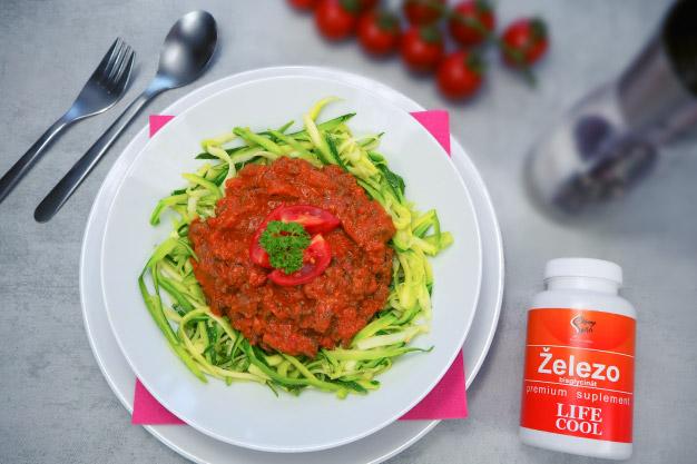 Cuketové špagety s boloňskou omáčkou
