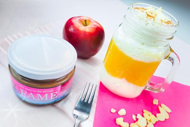 Jablečný dezert s jogurtem