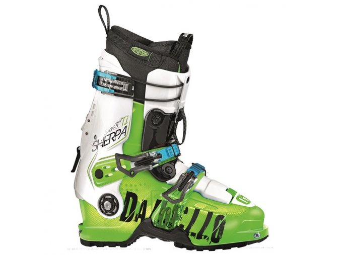 dalbello sherpa ti id ski boots 2016 green transparent white side