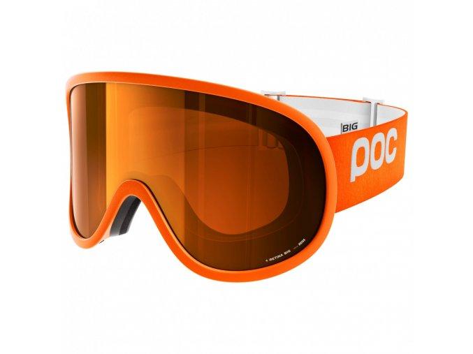 poc retina big sonar orange no mirror ski goggles