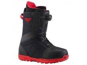 boty burton highline boa black red 5