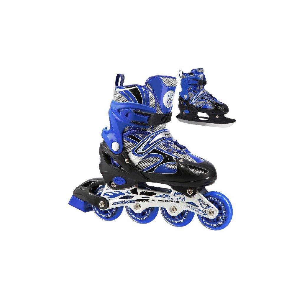 Zimní brusle 2v1 NILS EXTREME NH 18366 A modré