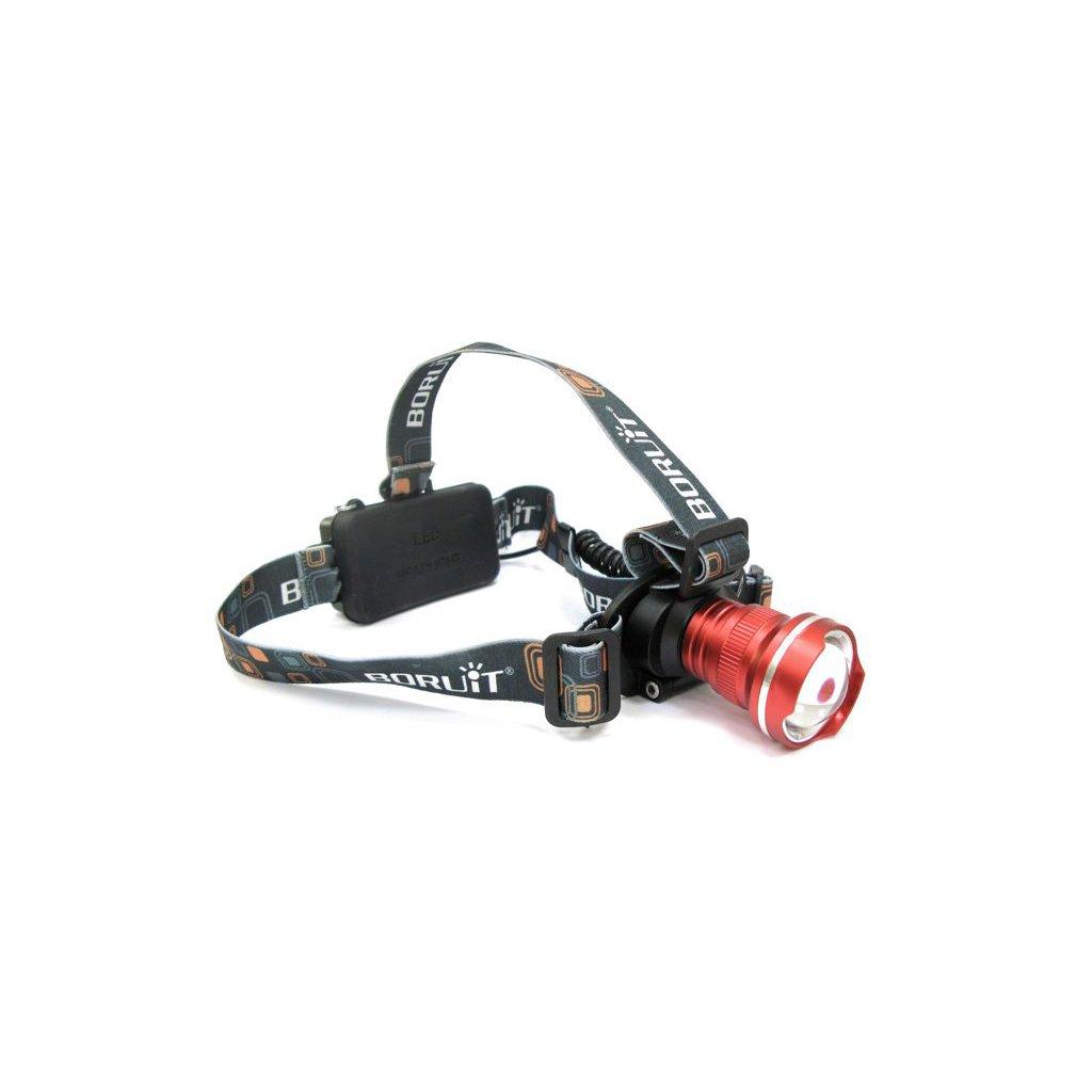 LED čelovka, typ světla XM-L3 U3 + auto nabíječka