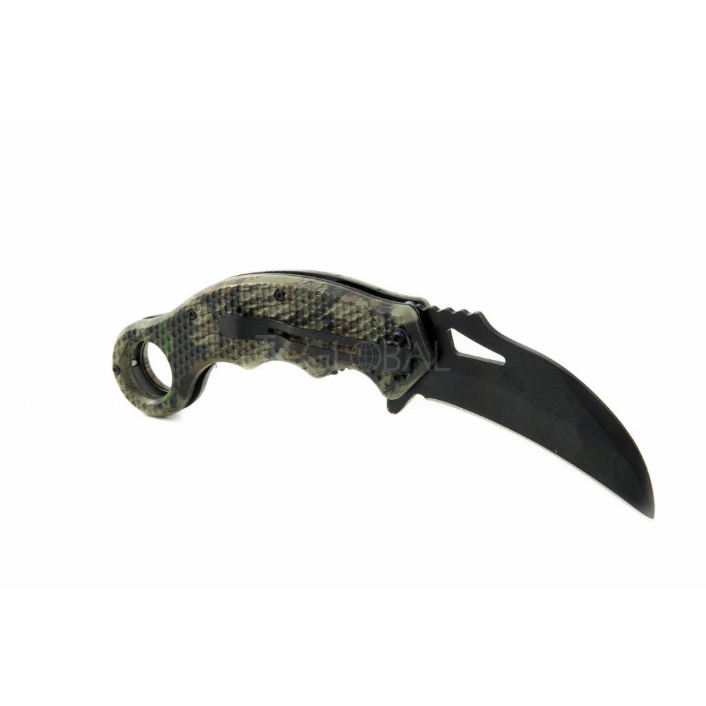 Polo-keramický nerezový nůž, skládací, 19,5cm