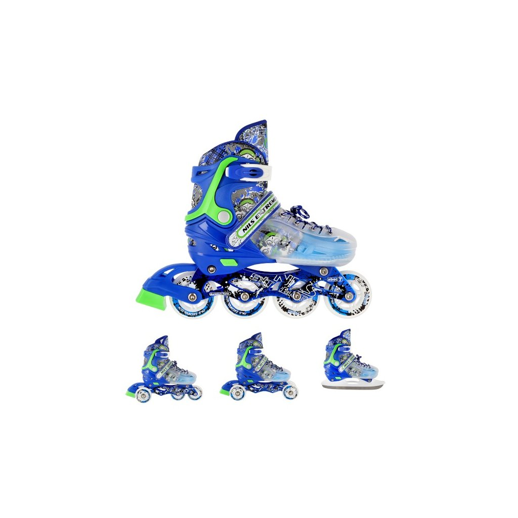 Kolečkové brusle NILS EXTREME NH18122 4v1 modré