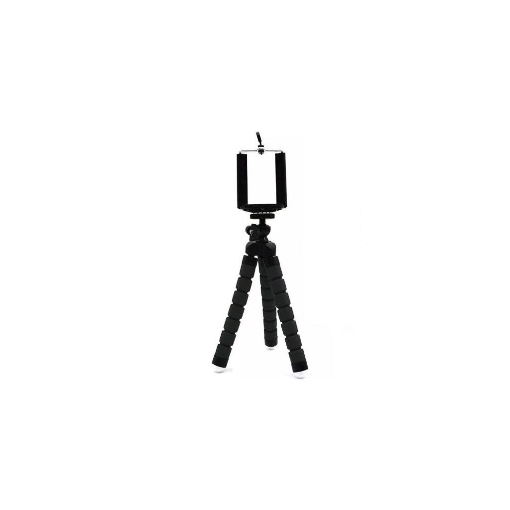Flexibilní tripod selfie stativ, černý