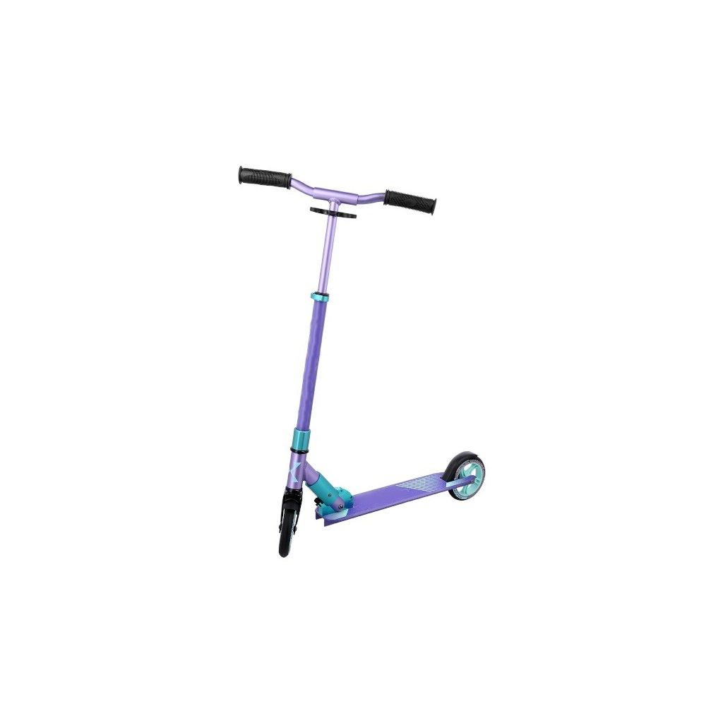 Skládací hliníková koloběžka NEX HD145, fialová/mentol