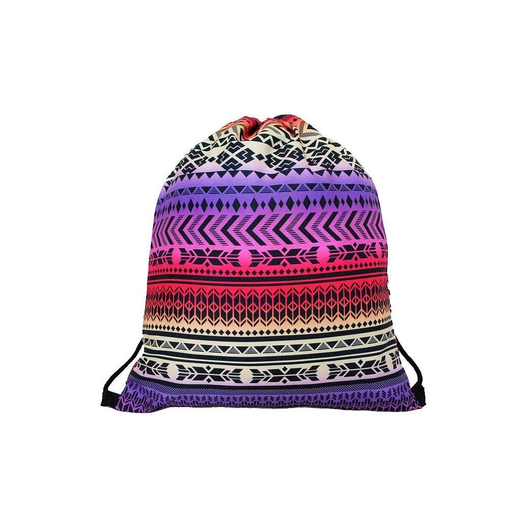 Vak na zada na prezuvky batuzek aztec indian etno 1