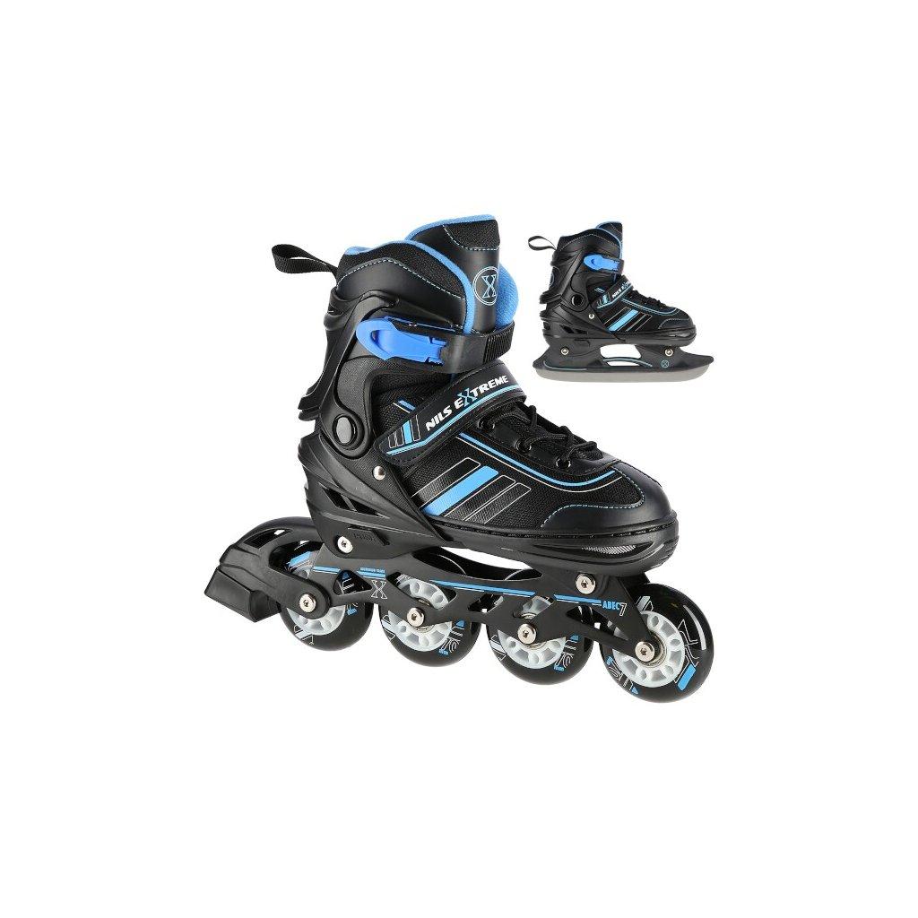 Brusle NILS Extreme NH18191 2v1 černo-modré