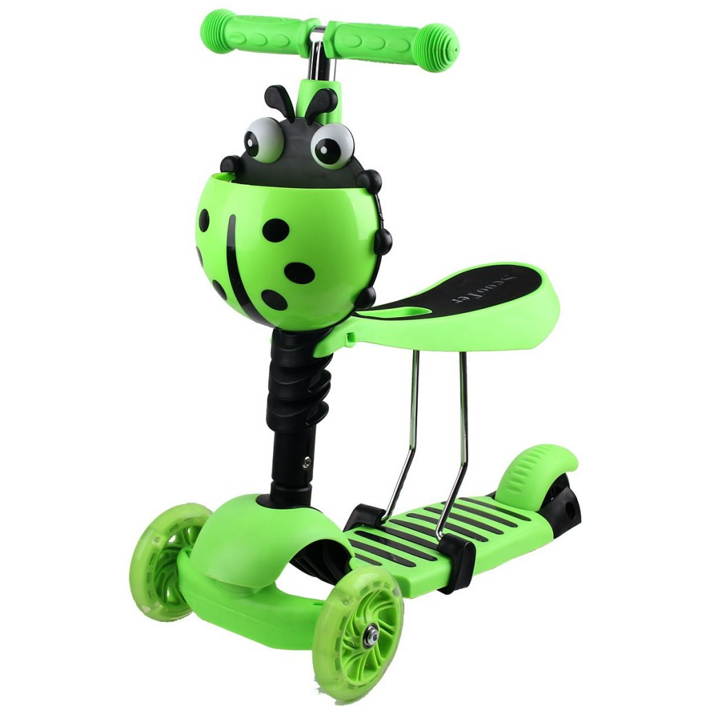 hulajnoga balansowa jezdzik 3w1 enero biedronka zielona (1)