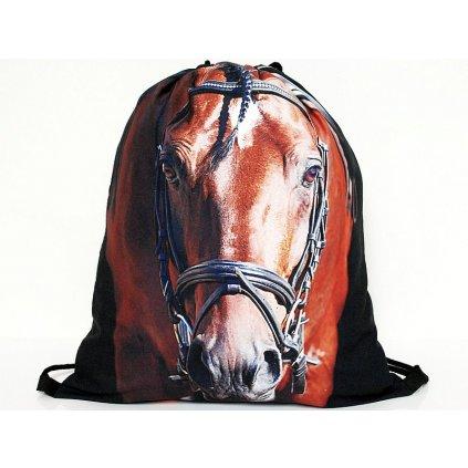 Vak na záda 3D Kůň-hnědý