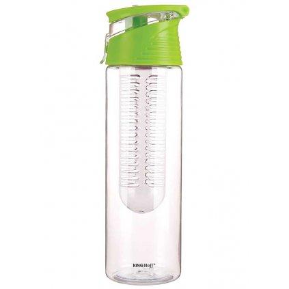 Zdravá láhev se sítkem na ovoce INFUSIO, zelená