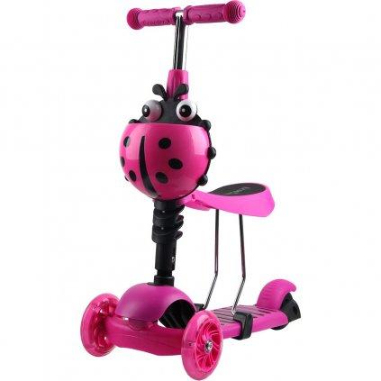 hulajnoga balansowa jezdzik 3w1 enero biedronka rozowa