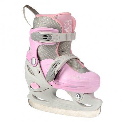 Lední brusle NILS EXTREME NH11901 šedo-růžové