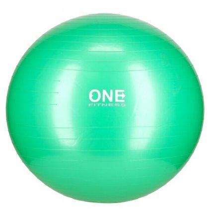 Gymnastický míč ONE Fitness Gym Ball 10 zelený, 65 cm