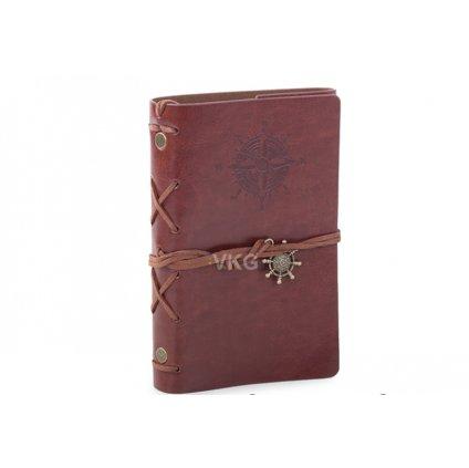 Cestovní retro deník, červený