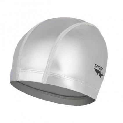 Plavecká čepice SPURT SR01, stříbrná