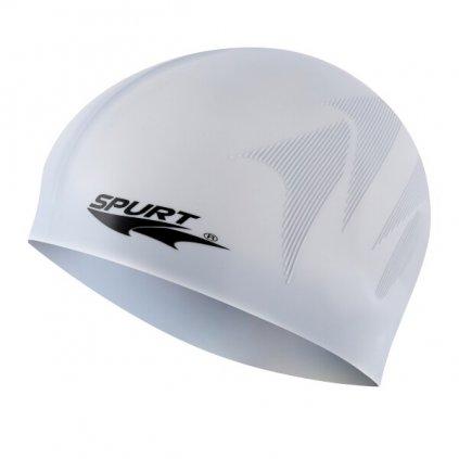 Silikonová čepice SPURT F244 s plastickým vzorem, šedá