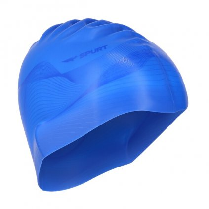 Silikonová čepice SPURT G-Type F206 men se vzorem, modrá