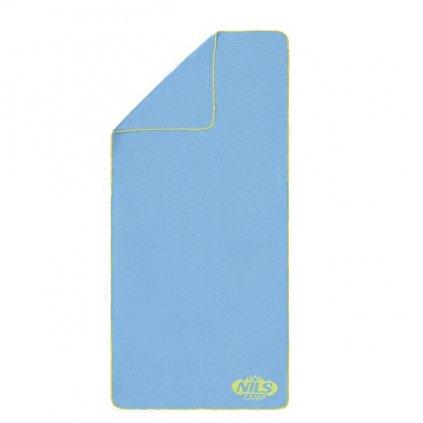 Froté ručník NILS Camp NCR01 sv.modrý/zelený