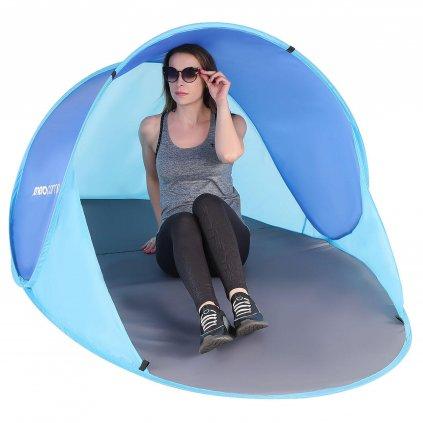 namiot parawan plazowy samorozkladajacy 190x120x86cm granatowo niebieski (1)