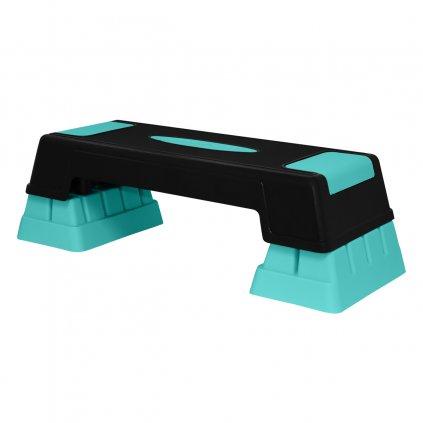 Step na aerobic SVX, 3-stupňový, azurový