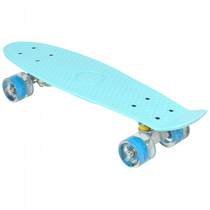 Pennyboard ENERO 56cm s LED kolečky, BLUE KING