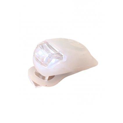 Lampička na koloběžku, kolo silikonová - přední i zadní, bílé