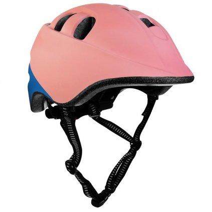 Dětská cyklistická přilba SP CHER IN-MOLD, 52-56cm, růžovo-modrá