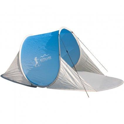 namiot parawan plazowy samorozkladajacy 190x120x86cm niebiesko szary