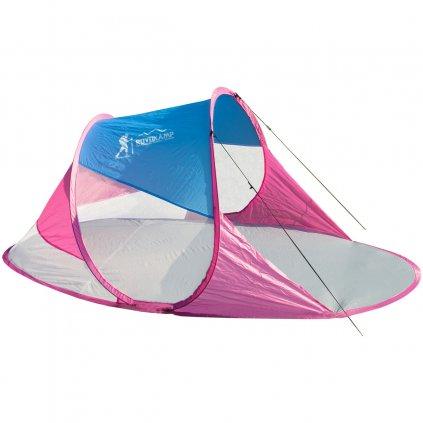 namiot parawan plazowy samorozkladajacy 190x90x86cm niebiesko rozowy