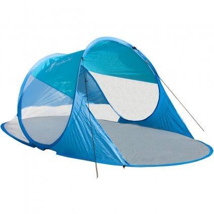 namiot parawan plazowy samorozkladajacy 190x90x86cm granatowo niebieski