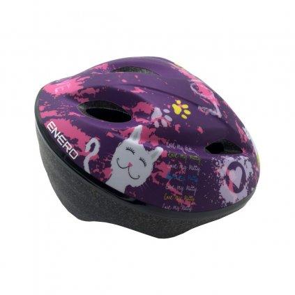 kask rowerowy dzieciecy regulowany enero love kitty rs 47 49cm (1)
