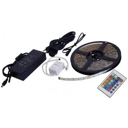 Vodovzdorné LED 3528 osvětlení, RGB s dálkovým ovladačem + adaptér, 5m
