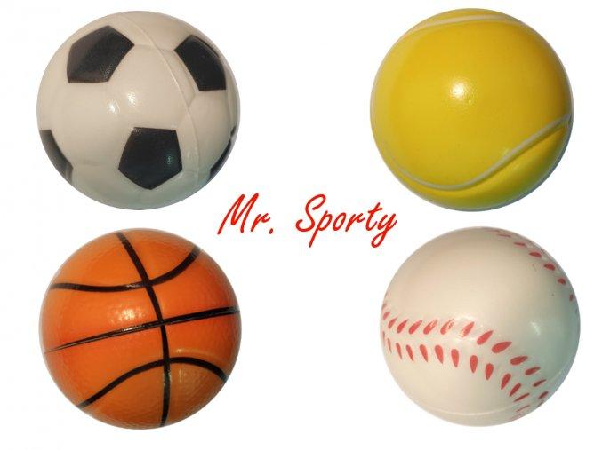 Antistresový pěnový míček Mr. Sporty