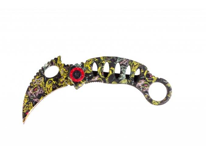 Polo-keramický nerezový nůž, skládací, 16,5cm