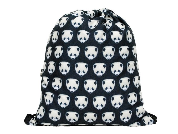Vak na záda 3D Pandy-tmavý