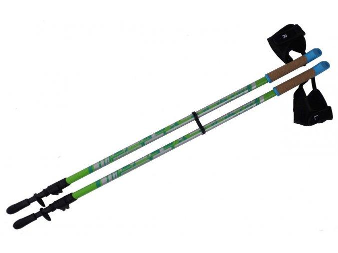 Trekkingové hole SVX - Nordic Walking, korkové držadla, rukavičky CLIP