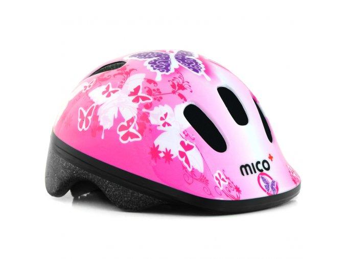 Detska prilba helma mico butterflies styrofoam rychle upinani certifikat 1