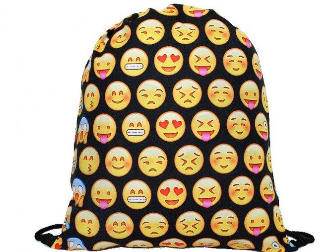 Vak na zada na prezuvky batuzek smile emoji cerny 1