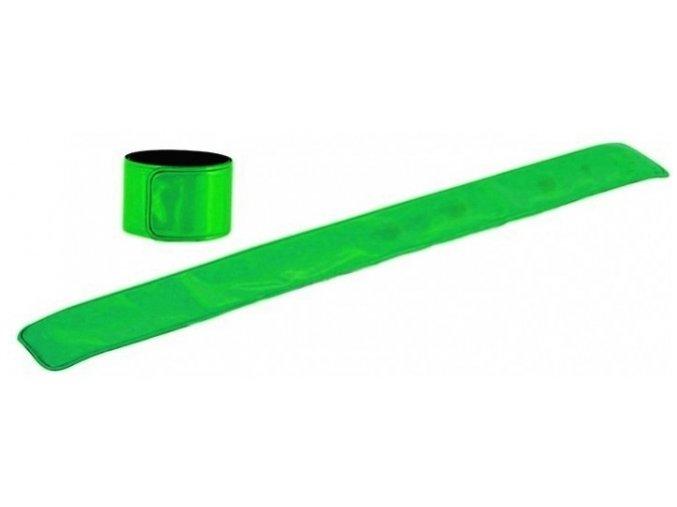 Reflexni pasek odrazka bezpecnost viditelnost zelena 1