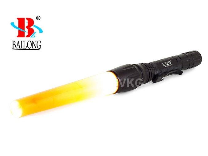 Svítilna Bailong BL-8668, LED typu CREE XM-L T6 + výstražná násada