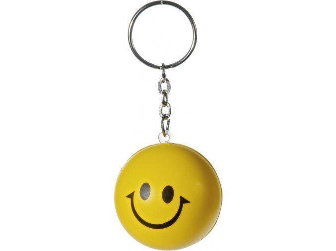 privesek na klice antistresovy penovy smile zluty