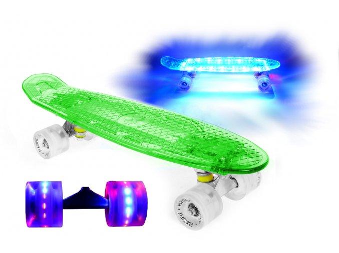 LED svitici penny board svitici deska kolecka zeleny