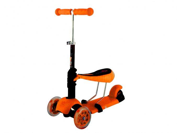 Dětská koloběžka MINI Scooter 2v1 se svítícími LED koly