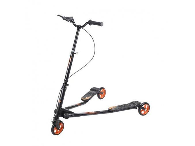 Koloběžka tříkolová NILS EXTREME Fliker 145 oranžová