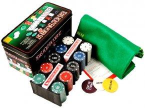 Poker sada v plechovém boxu